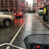 I found it a wee bit stressful to navigate downtown rush hour traffic together with a downpour and heavy winds.