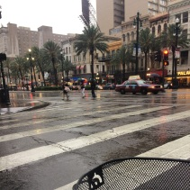 Canal Street in the storm